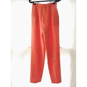 tangerine high waisted trousers